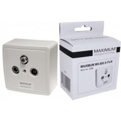 GNIAZDKO KOŃCOWE R/TV-SAT MAXIMUM MX-600