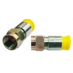 ZŁĄCZE F KOMPRESYJNE MEGASAT 7.3mm HQ żółte